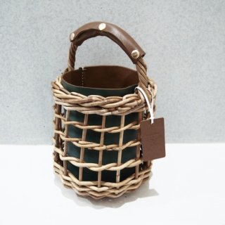 Reversible mode Basket  #Brown×Green