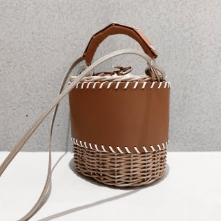 Protect stitch Basket - Middle #Brown
