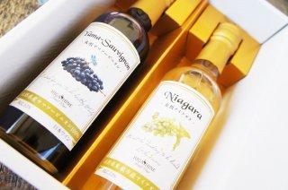【ギフトセット】ナイアガラ白ワイン&ヤマソービ二オン赤ワイン【250ml】