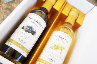 【ギフトセット】ナイアガラ白ワイン&MuscatBaileA赤ワイン【250ml】