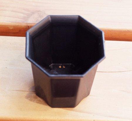 八角2号鉢(黒)