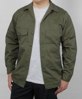 アメリカ軍 U.S.ARMY OG-507 ファティーグシャツ(新品)A14N=
