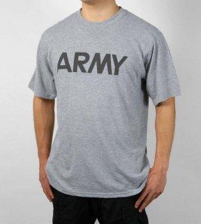 US.ARMY.軍用グレーTシャツ(新品)T45N
