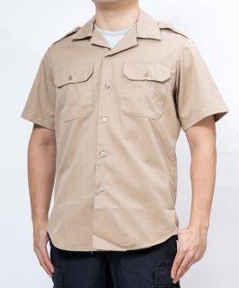 アメリカ陸軍 U.S.ARMY カーキ 厚手生地 半袖ドレスシャツ(新品)AMY-SS-HKN-