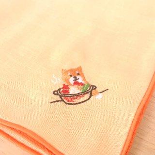 刺繍ハンカチ(いぬお鍋)