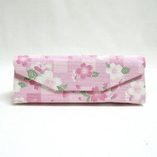 さくらの 折りたたみメガネケース/ピンク
