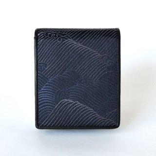 山楽 二つ折り財布【波】