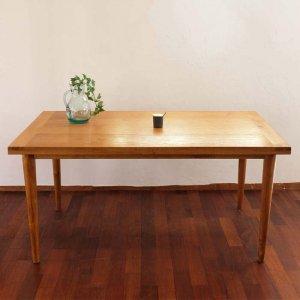 チークダイニングテーブル シンプル