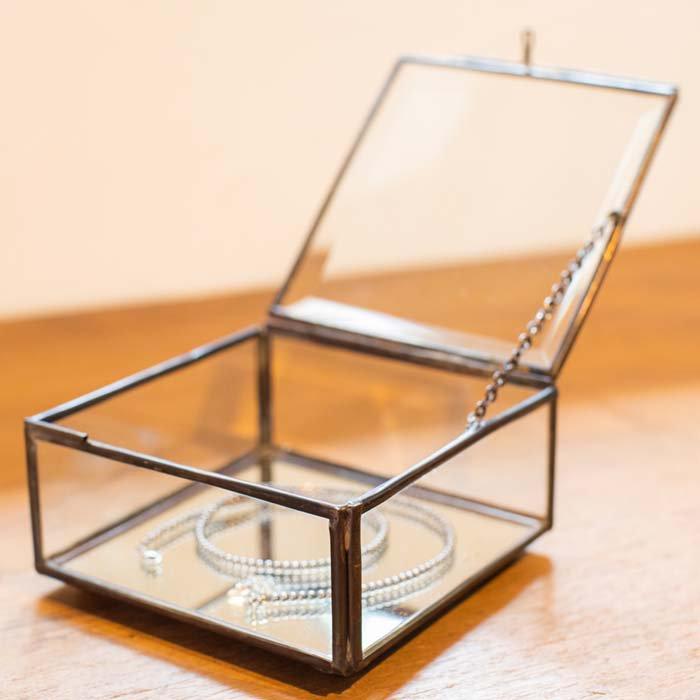 ガラスアクセサリーBOX 小 メインイメージ