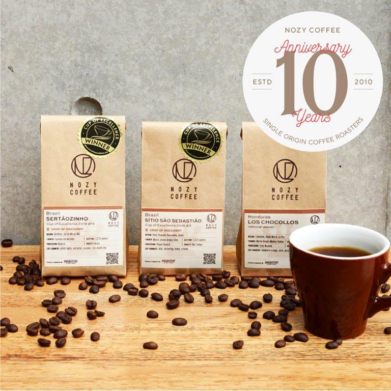 [ 3種セット 豆/粉 ] NOZY COFFEE 10周年 コンペティション アソートメント 100g × 3種