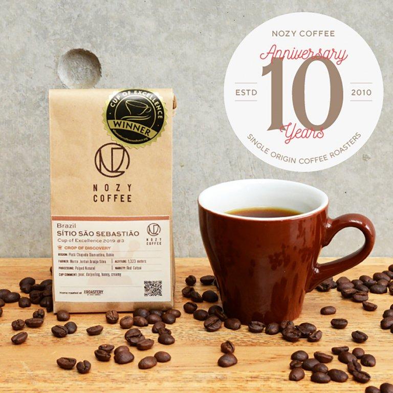 [ NOZY COFFEE 10th 豆/粉 ] ブラジル2019COE#3 サン セバスチャン農園 100g