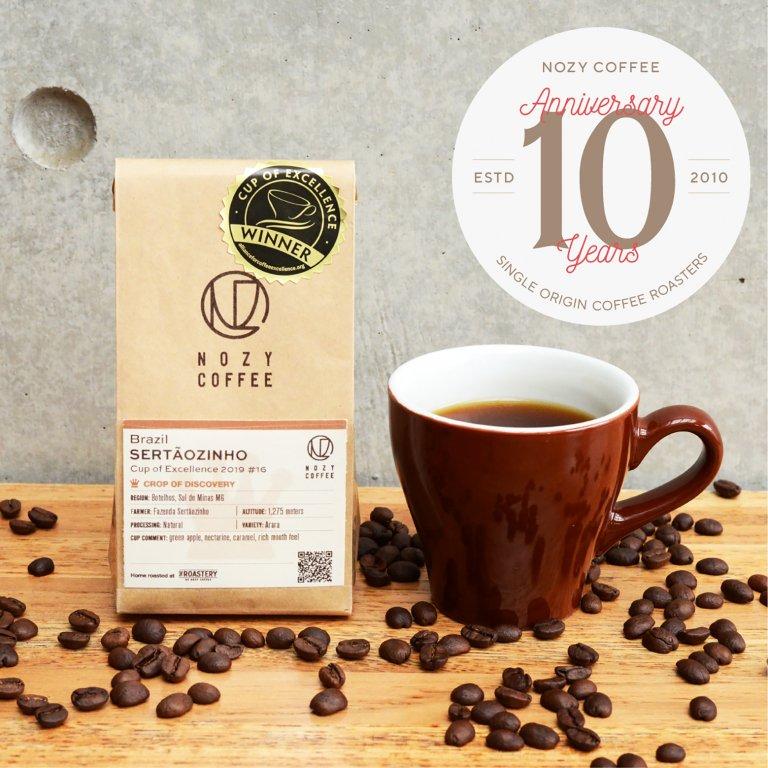 [ NOZY COFFEE 10th 豆/粉 ] ブラジルCOE2019#16 セルトンジーニョ農園 100g