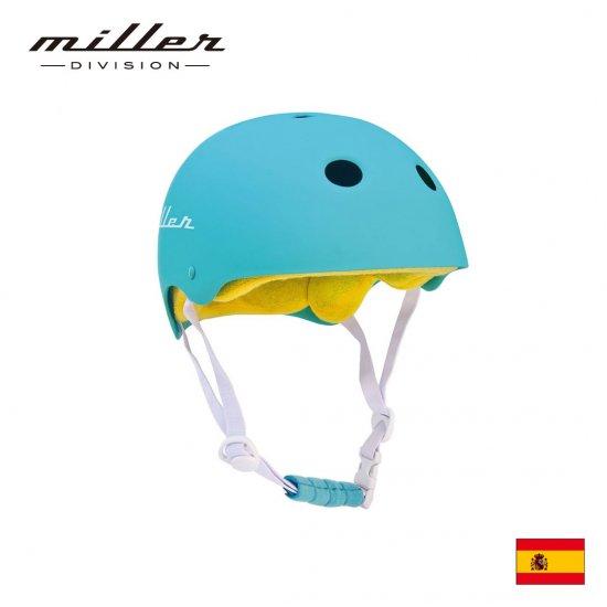 ミラー 子供用ヘルメット ターコイズ
