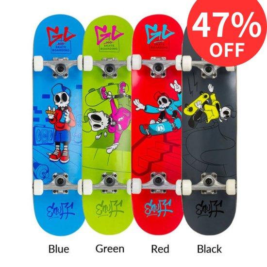Enuff 子供用コンプリートスケートボード SKULLY MINI【メープル7層デッキ ABEC9カーボン鋼ベアリング】