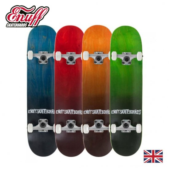 Enuff コンプリートスケートボード FADE【メープル7層デッキ ABEC7クロム鋼ベアリング】
