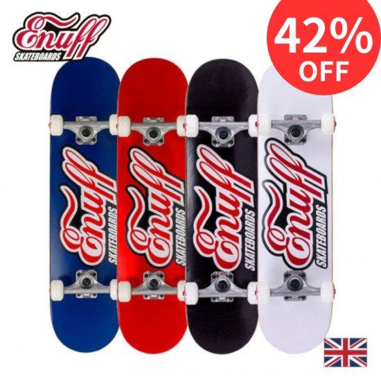 【Enuff / イナフ】 CLASSIC LOGO  クラッシック ロゴ コンプリートスケートボード デッキ幅7.75
