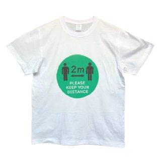 感染予防啓蒙Tシャツ ソーシャルディスタンス