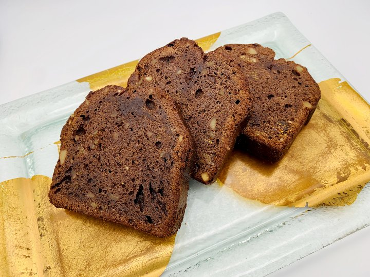 イチジクとナッツ入りチョコレートパウンドケーキ(1切)<br />Chocolate, figs and nuts Pound cake