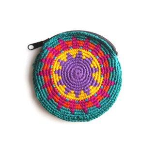 毛糸の丸ポーチ/グアテマラ雑貨