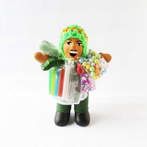 【南米雑貨・開運グッズ】幸運を呼ぶエケコおじさん人形OR/ペルー雑貨
