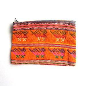 中米グァテマラの民族衣装生地ポーチL/グアテマラ雑貨
