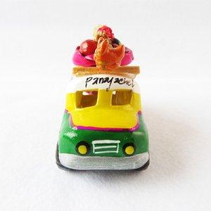 グアテマラのチキンバスの置物Sサイズ/グァテマラ雑貨