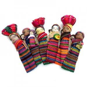 マヤ先住民族人形・マグネット/グアテマラ雑貨