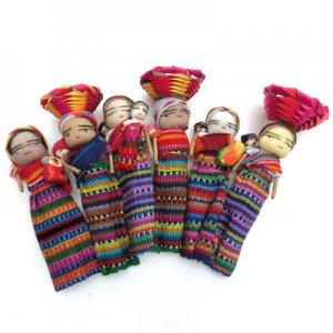 中米マヤ先住民族人形・マグネット/グァテマラ雑貨