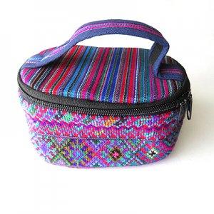 手織布の化粧ポーチ/グァテマラ雑貨