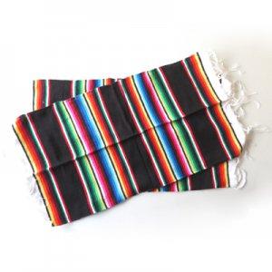 サラッペランチョンマットBK【2枚セット】/メキシカン雑貨
