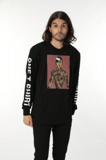 ONETSHIRT×Michael Roberts Rihanna Long sleeve T-shirt