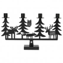 CHRISTMAS FOREST CANDLE HOLDER