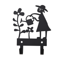GARDEN WOMAN HANGER BLACK/WHITE