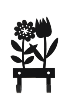 SPRING FLOWER HANGER BLACK