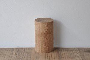 木製茶筒 一刀彫
