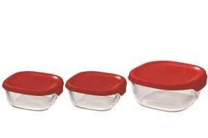 HARIO 耐熱ガラス製保存容器3個セット 【SALE】