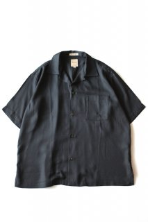 Sanca (サンカ) / RAYON ON UP OPEN S/S SHRTS - BLACK