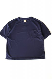 Sanca (サンカ) / POLY PIQUE POCKET CREW - NAVY