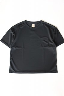 Sanca (サンカ) / POLY PIQUE POCKET CREW - BLACK
