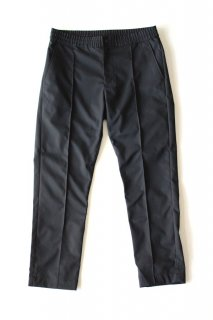 BURLAP OUTFITTER / CENTER PLEATS PANT - Black
