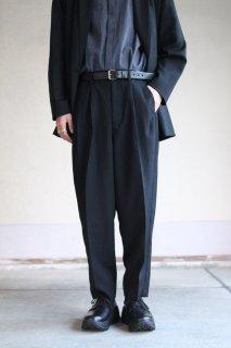 Dulcamara / よそいきボールドラインパンツ - BLACK