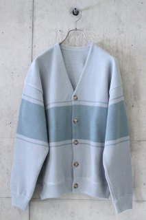 <img class='new_mark_img1' src='https://img.shop-pro.jp/img/new/icons16.gif' style='border:none;display:inline;margin:0px;padding:0px;width:auto;' />crepuscule/border kanoko Cardigan - L.Blue × Green