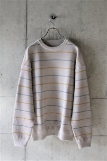 <img class='new_mark_img1' src='https://img.shop-pro.jp/img/new/icons16.gif' style='border:none;display:inline;margin:0px;padding:0px;width:auto;' />crepuscule / border kanoko pullover - beige