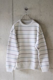 <img class='new_mark_img1' src='https://img.shop-pro.jp/img/new/icons16.gif' style='border:none;display:inline;margin:0px;padding:0px;width:auto;' />crepuscule / border kanoko pullover - white