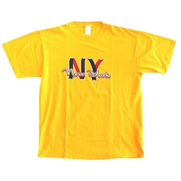 USED SELECT/ PRINTED TEE� - YELLOW