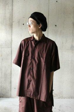 Badhiya / short sleeve slit shirts - saxony burgandy