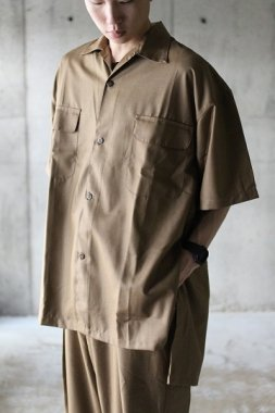 Badhiya / short sleeve slit shirts - saxony beige