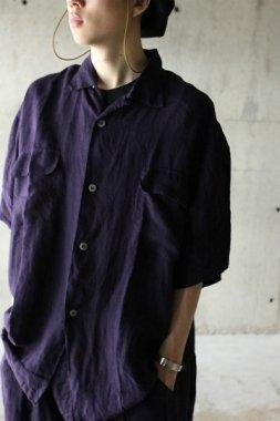 Badhiya / short sleeve slit shirts - purple