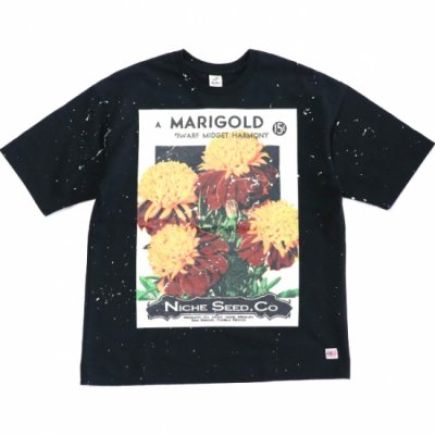 Niche Exclusive flower seeds Tee with paint - MARIGOLD