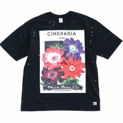 Niche Exclusive flower seeds Tee with paint - CINERARIA